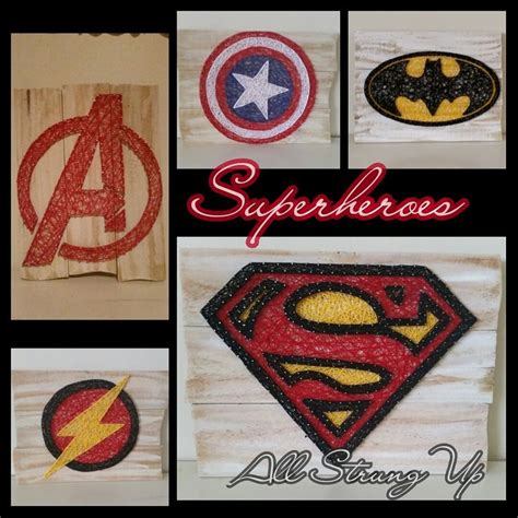 Batman String Pattern - superheros captain america batman the flash