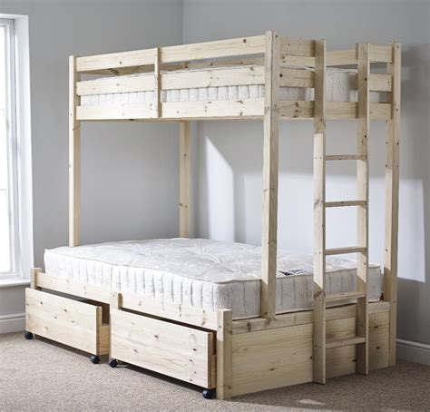 Strictly Bunk Beds Strictly Beds Duke 4ft 6 Sleeper Storage Bunk Bed