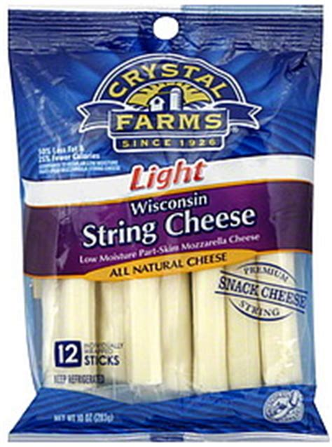 light mozzarella string cheese farms string cheese wisconsin light 12 0 ea nutrition information shopwell