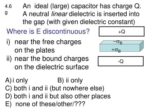 capacitor bound charge ppt electric displacement powerpoint presentation id 1563601
