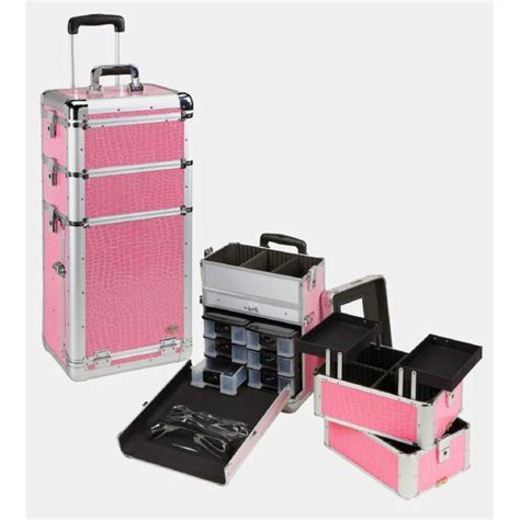 pro makeup case with drawers professional rolling makeup case w drawers pink gator