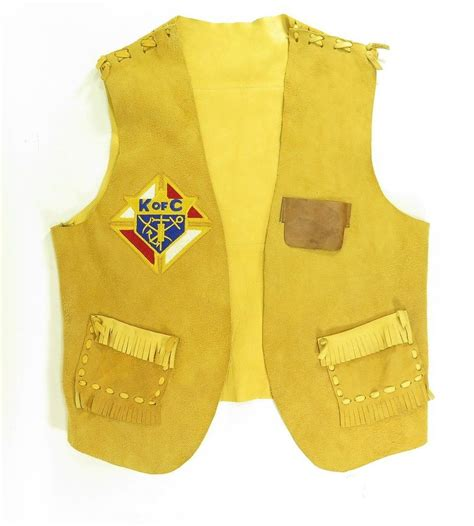 Handmade Vests - vintage knights of columbus arkansas vest m handmade suede