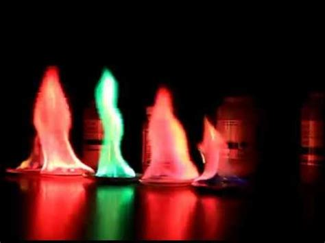 different color flames colors of different metal salts test