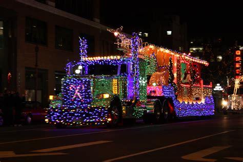 semi truck christmas lights images