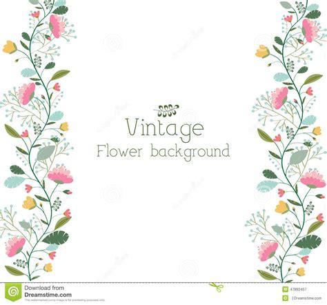 Vector Illustrations Design Concept Template retro flower background concept vector stock image