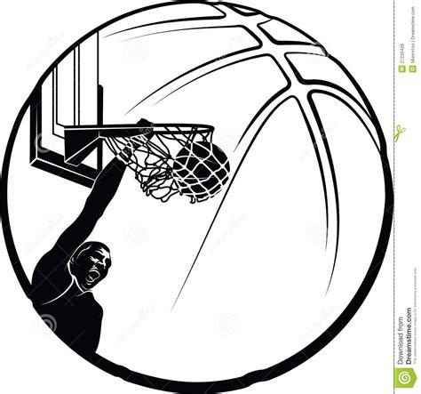 imagenes libres svg silueta de la clavada del baloncesto imagen de archivo