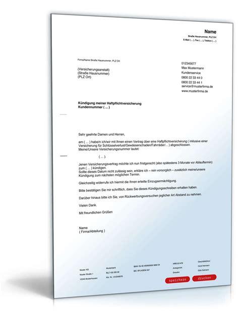 Musterbrief Beschwerde Versicherung Musterbrief Paket K 252 Ndigung Vorlagen Zum
