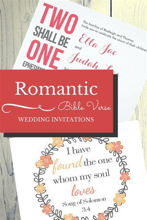 Bible Verses About For Wedding Invitations
