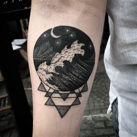 man in the moon tattoo designs 45 hypnotic patterns of moon tattoos
