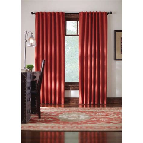 Thermal Back Curtains Home Decorators Collection Terracotta Monaco Thermal Foam Backed Lined Back Tab Curtain 52 In