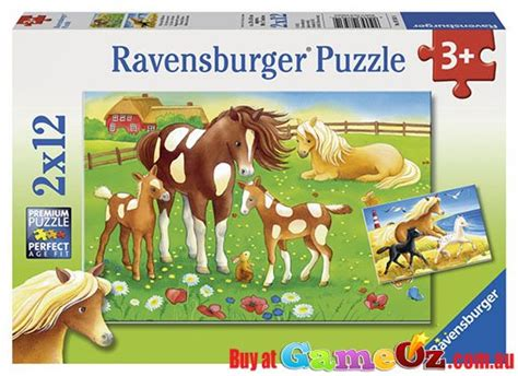 flowing manes ravensburger childrens jigsaw puzzle 2 x 12