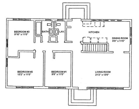 ranch blueprints ranch style house plans ranch style floor plans and