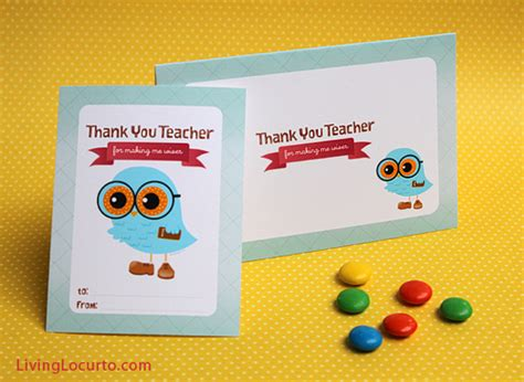 Printable Gift Cards For Teachers - 50 of the best back to school free printables download