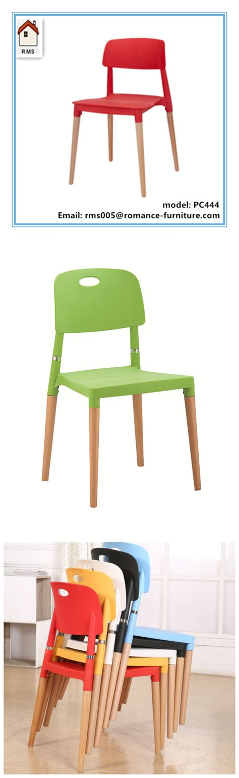 Chair Legs For Sale by Colorful Plastic Chairs Wood Legs Plastic Chair For Sale Pc444