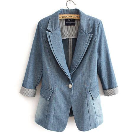 Blezer Denim denim blazer jacket for vest fashion
