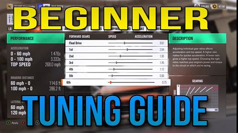 how to tune a car how to tune your car for a beginner forza horizon 3