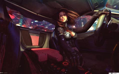 cyberpunk  woman hd wallpaper