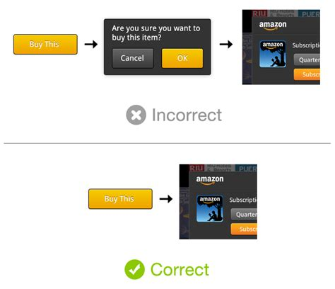amazon developer ux design guidelines for iap in app purchasing