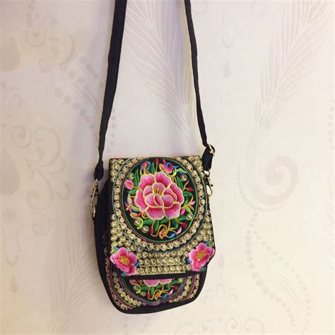 Small Embroidered Shoulder Bag small embroidered canvas vintage shoulder bag top tier style