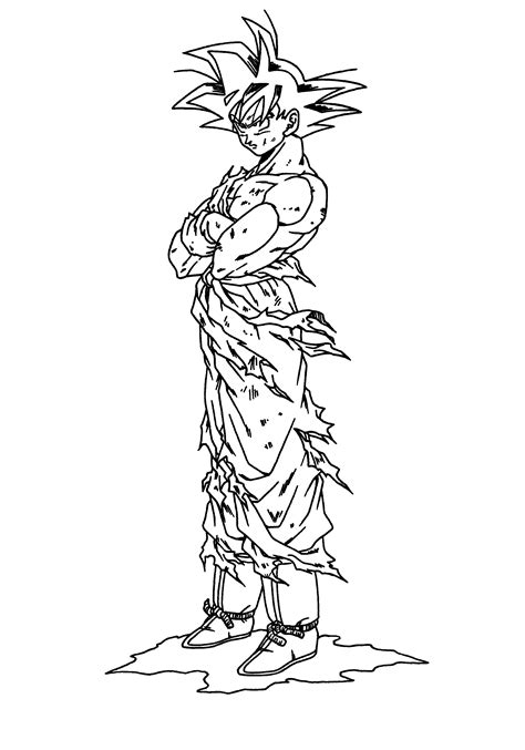printable coloring pages dragon ball z free coloring pages of dragon ball z chi chi