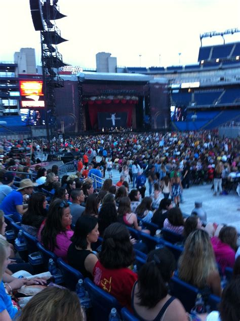 swift section view from section 106 row 6 taylor swift gillette