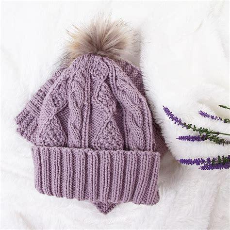 Hat Fur Cap Topi Rajut Wool Untuk Musim Dingin perlengkapan musim dingin 3 color scarf hat