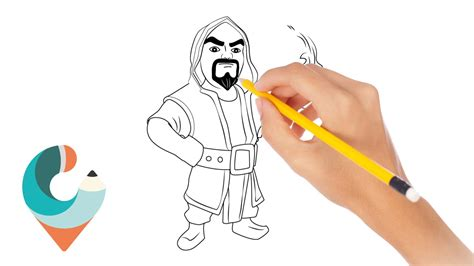doodle how to make wizard how to draw wizard coc character