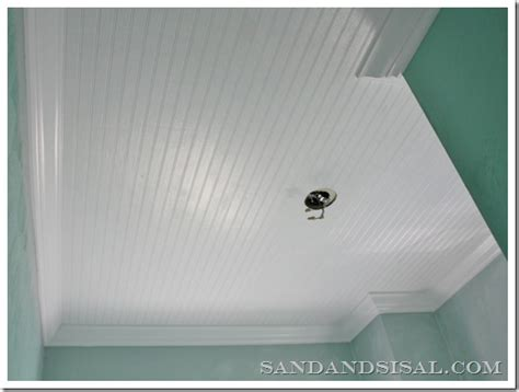 how to install beadboard on ceiling installing bead board ceiling sand and sisal
