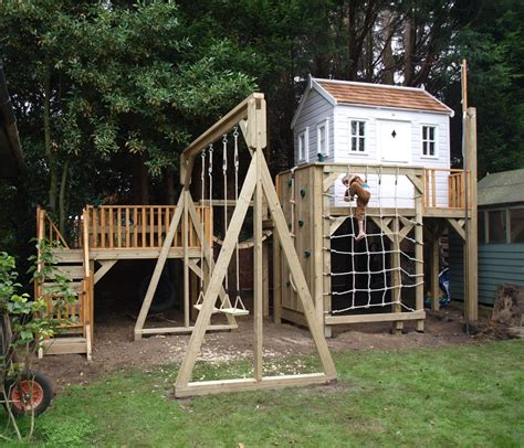 treehouse with swing multi level platform with childrens treehouse treehouses