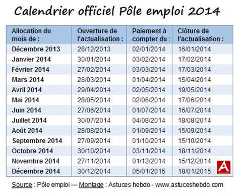 Calendrier D Actualisation Pôle Emploi 2016 Tableau D Actualisation Pole Emploi 2015 Table De Lit