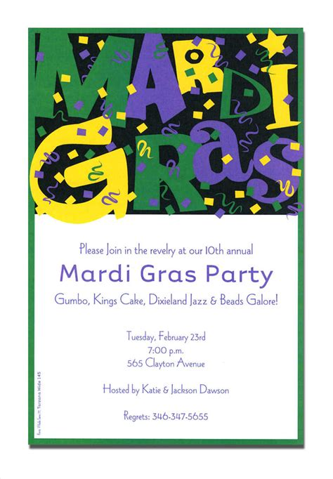 mardi gras invitation template mardi gras invitations free printable