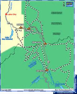 map of lake city colorado lake city snowmobile trails map colorado vacation directory