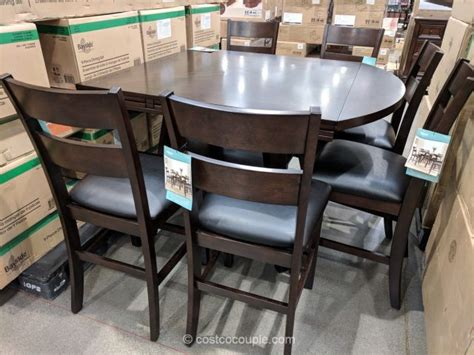costco counter height dining table bayside furnishings 7 counter height dining set