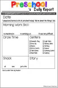 nursery daily diary template 25 best ideas about preschool daily sheet on