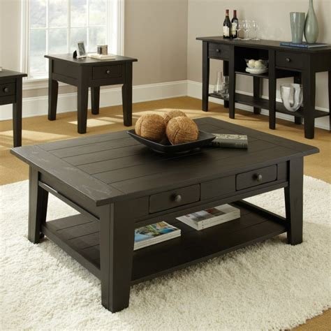 Coffee Table Living Room Living Room Attractive Modern End Table For Living Room With Rectangle Oak Wood Coffee