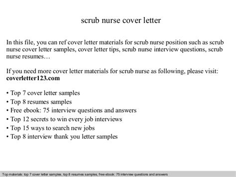 Scrub Cover Letter by Scrub Cover Letter