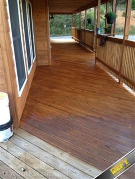 pressure treated wood decking  white painted trim