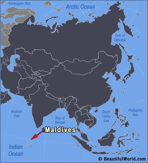 where is the maldives on the world map map of maldives facts information beautiful world