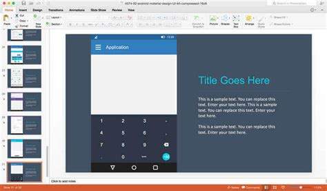 layout ppt in android android app prototyping using material ui powerpoint