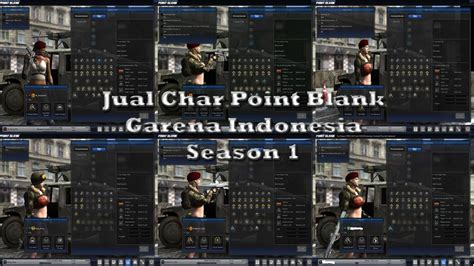 Char Point Blank B1 jual char point blank garena indonesia season 1
