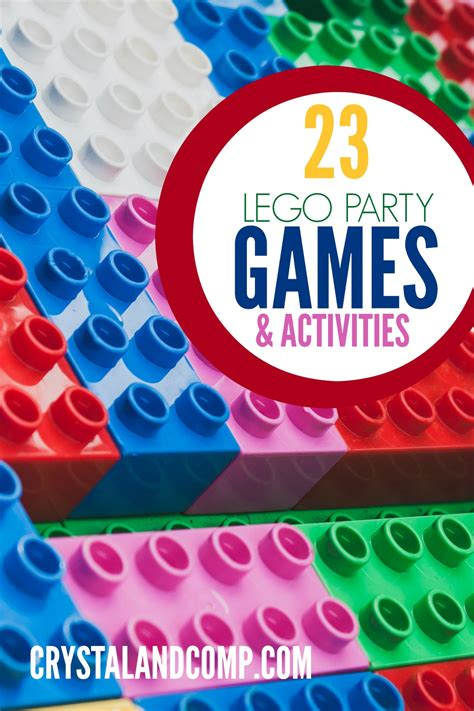 birthday themes games lego party games