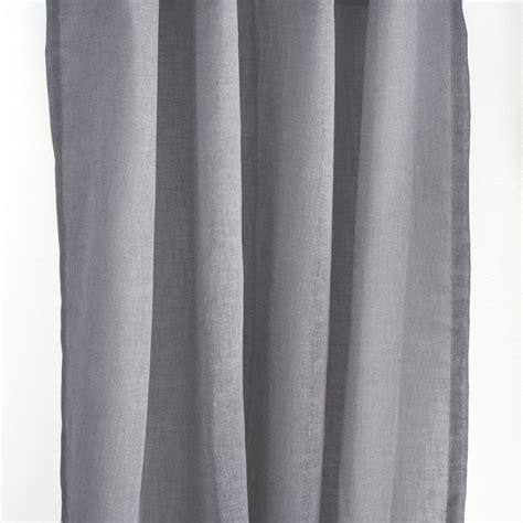 dark grey sheer curtains flow linen sheer curtain panels dark gray loft curtains