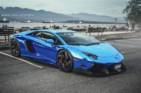lamborghini aventador chrome blue lamborghini aventador lp 766 4 in chrome blue front
