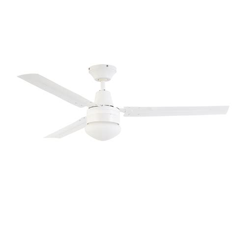 3 Blade Ceiling Fan With Light by Arlec 120cm 3 Blade Ceiling Fan With Oyster Light Csf120ao