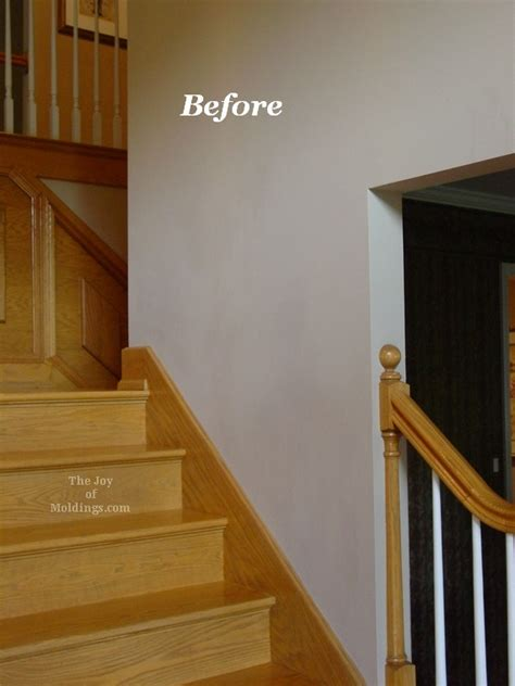 Bi Level Home Decorating Ideas by Before Amp After Oak Wainscoting On Stairs The Joy Of
