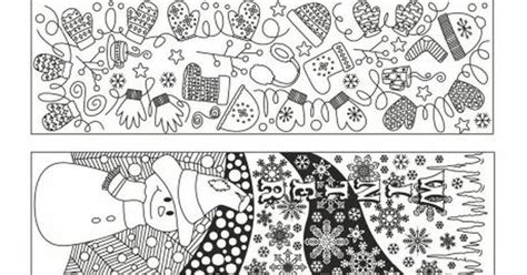 school doodle colouring bookmarks winter doodle colouring bookmarks free join fb grown up