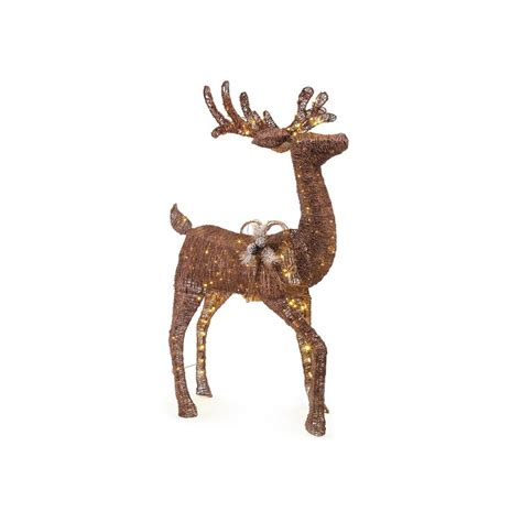 grapevine animated lighted deer home accents 31 in led lighted tinsel ty757 1614 1 the home depot