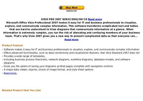 Microsoft Visio 2007 microsoft visio professional 2007 version