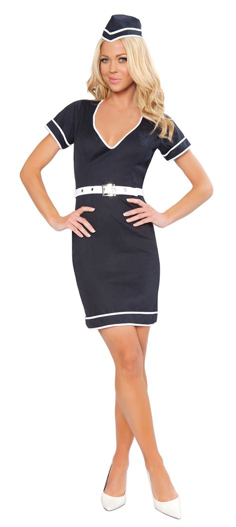 Flight Attendant Costume 38 00 pan am style 1960 s mod flight attendant