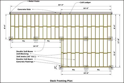blueprint software deck framing building  deck deck